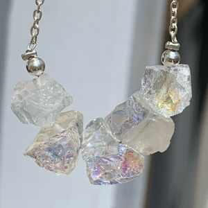 Angel Aura Quartz Crystal necklace.